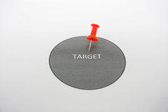 Hit the target. Icon of hit the target Royalty Free Stock Images