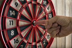 Hit the target Royalty Free Stock Image