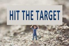 Hit the target Stock Photos