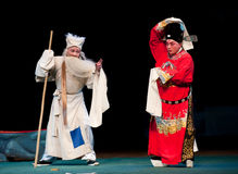 Hit the undutiful son with a cudgel-Jiangxi opera: Breeze Pavilion Stock Photos