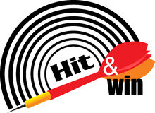 Hit and win logo Stock Image