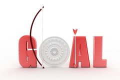 Hit your target goal concept Royalty Free Stock Images