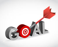 Hit your target goal. illustration design Royalty Free Stock Images