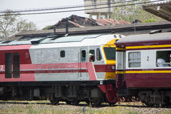 Hitachi Dieslowska lokomotywa żadny 4512 pociąg żadny 14 Zdjęcia Royalty Free