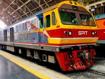 Hitachi Locomotive at Hua Lamphong royalty free stock photography