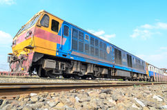HITACHI locomotive Thailand train. Stock Photos