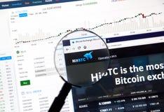 Hitbtc Cryptocurrency Exchange Stock Photo