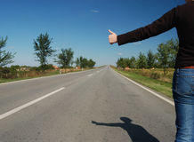 Hitch hike 10 Royalty Free Stock Photo