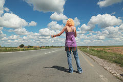 Hitch hike Royalty Free Stock Photography