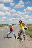 Hitch hike Stock Photo
