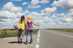 Hitch hike Royalty Free Stock Images