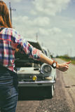 Hitch-hike Royalty Free Stock Photo