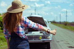 Hitch-hike Royalty Free Stock Images
