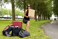Hitch hiker Stock Photo