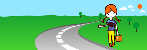 Hitch-hiker Stock Image
