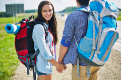 Hitch-hikers Stock Photo