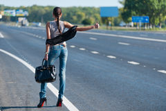 Hitch-hiking Stock Image