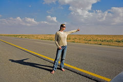 Hitch-hiking Royalty Free Stock Photography