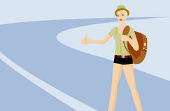 Hitch-hiking Stock Images