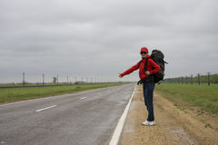 HITCH HIKING Royalty Free Stock Photos
