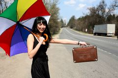 Hitch-hiking Stock Photography