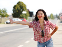 Hitch hiking Royalty Free Stock Photo