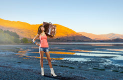 Hitch hiking traveling Stock Images