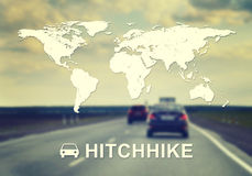 Hitchhike header Stock Photography