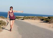 Hitchhiked through Europe Royalty Free Stock Photos