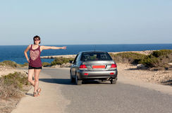 Hitchhiked through Europe Stock Photography