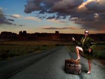 hitchhiker Royaltyfri Foto