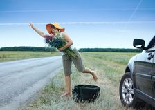 Hitchhiker Stock Photo