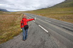 Hitchhiker royalty free stock image