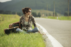 Hitchhiker Royalty Free Stock Photo