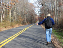 Hitchhiker foto de stock