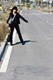 hitchhiker Στοκ Φωτογραφίες