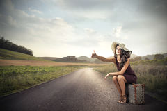 hitchhiker Fotografia de Stock Royalty Free