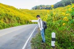 hitchhiker Immagine Stock