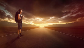 hitchhiker imagens de stock royalty free