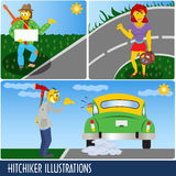 Hitchhiker collection Stock Image