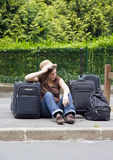 Hitchhiker, discouragement Stock Image