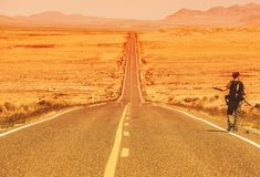 The Hitchhiker royalty free stock images
