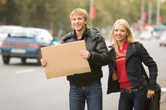 Hitchhikers Stock Images