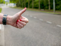 Hitchhikers gesture Stock Image