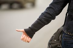 Hitchhiking Stock Photo
