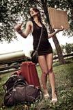 Hitchhiking Zdjęcie Stock