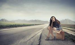 Hitchhiking Royalty Free Stock Photos