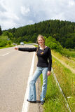 Hitchhiking Royalty Free Stock Image