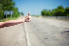 hitchhiking Foto de Stock Royalty Free