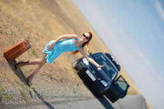 Hitchhiking Stock Images